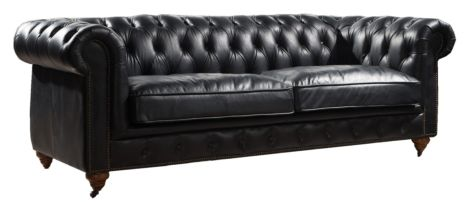 Ariel Chesterfield Vintage Distressed Leather 3 Seater Sofa