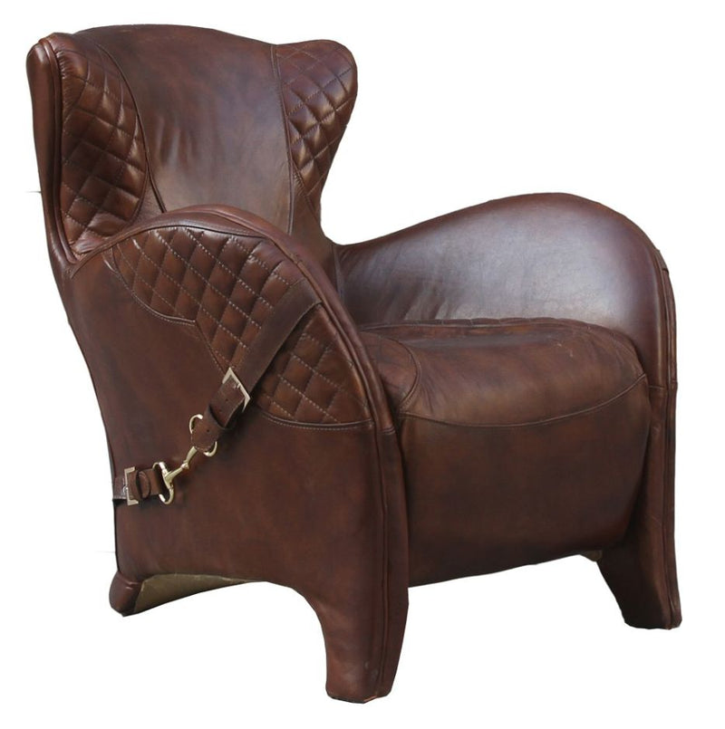 Bronco Saddle Vintage Distressed Leather Armchair