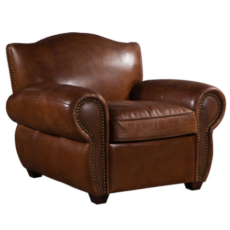 Burford Vintage Distressed Leather Armchair