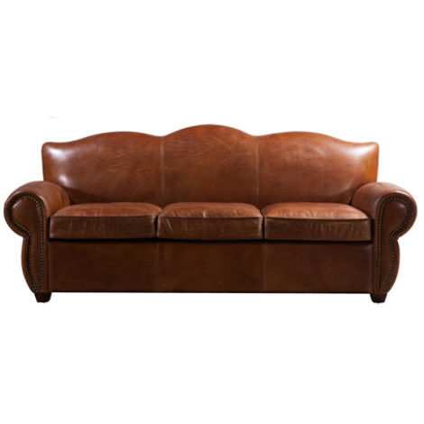 Barrow Vintage Distressed Leather Settee Sofa Suite