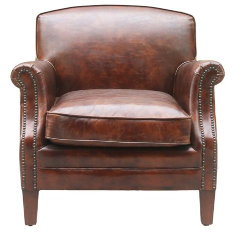 Camber Vintage Distressed Leather Armchair