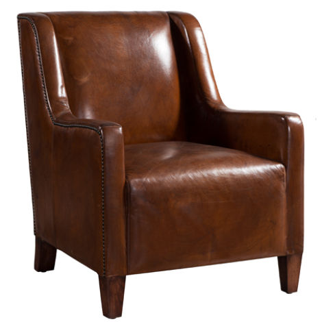 Camford Vintage Distressed Leather Armchair