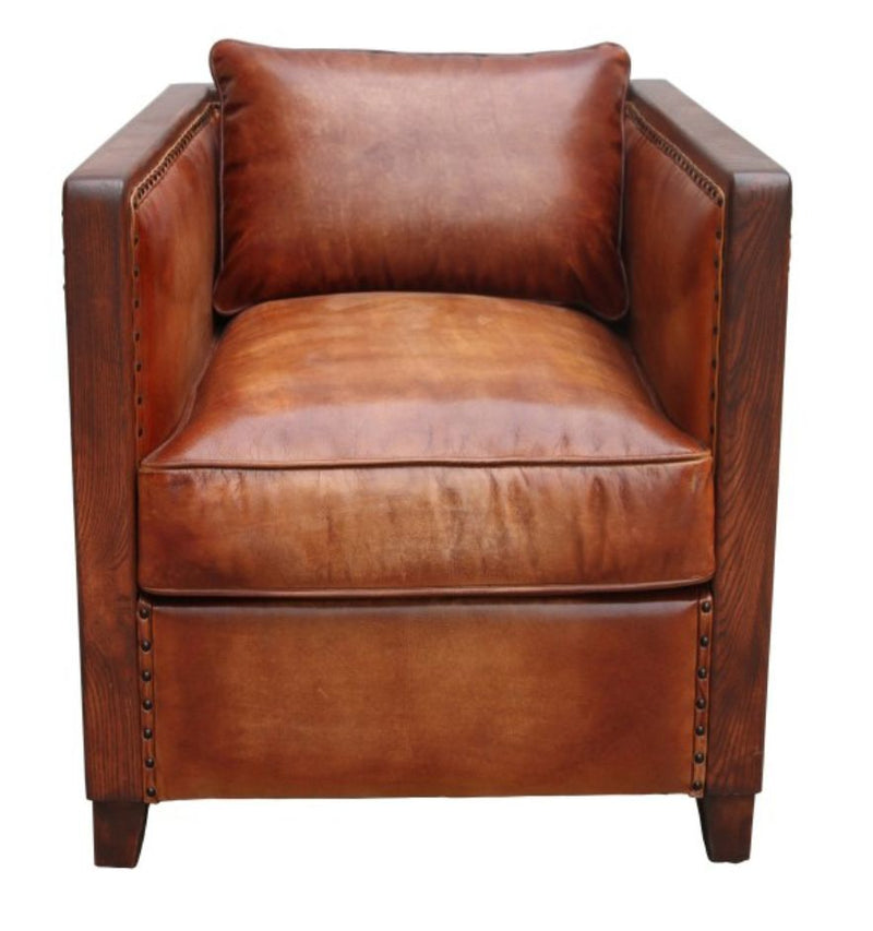 Chastleton Vintage Distressed Leather Armchair