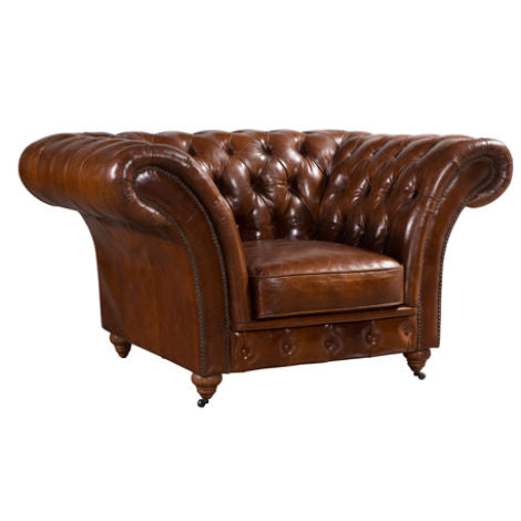 Chelsea Chesterfield Vintage Distressed Leather Armchair