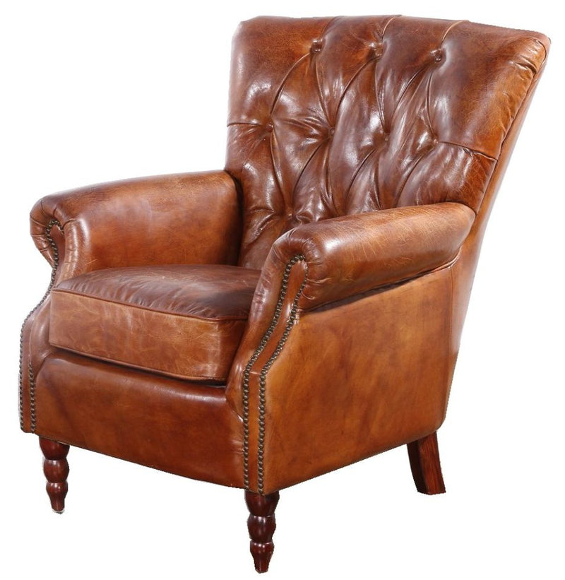 Chesterfield Chatsworth Vintage Distressed Leather Armchair
