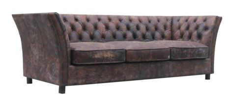 Adela Chesterfield Savoy Distressed Vintage Leather Sofa