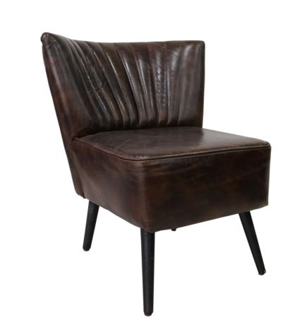 Arden Vintage Tobacco Brown Leather Chair