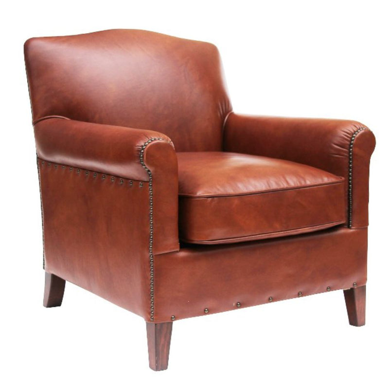 Connor Vintage Distressed Leather Armchair