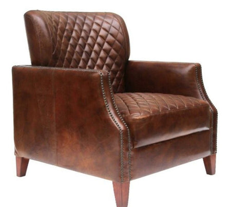 Constantine Vintage Distressed Leather Armchair