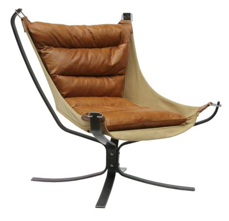 Cuero Butterfly Vintage Leather Chair
