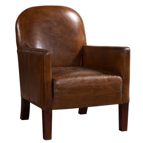 Daisy Vintage Distressed Leather Club Chair