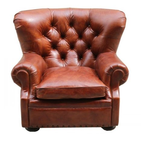Dorchester Chesterfield Buttoned Vintage Leather Armchair