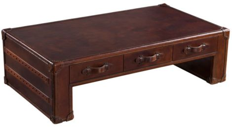 Amerigo Vintage Leather Coffee Table