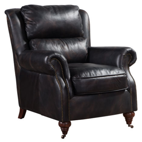Florence Vintage Distressed Leather Armchair