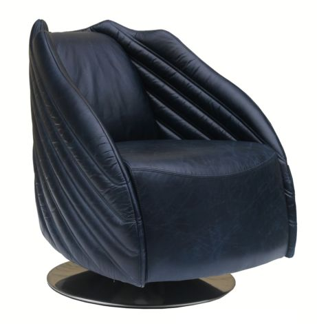 Galaxy Swivel Vintage Leather Armchair