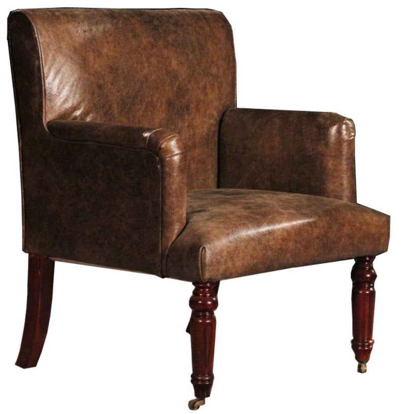 Grayson Distressed Vintage Leather Armchair