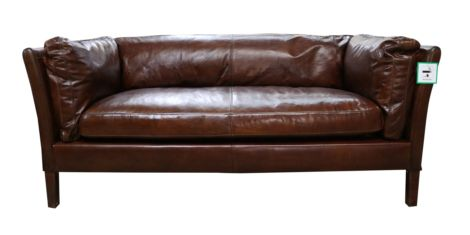 Farnham Vintage Brown Distressed Leather 3 Seater Settee Sofa