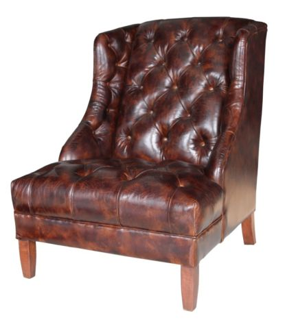 Hambleton Chesterfield Buttoned Vintage Leather Armchair