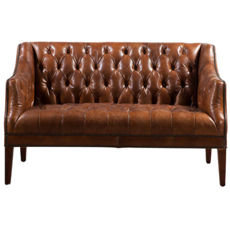 Chesham Vintage Distressed Chesterfield 2 Seater Leather Sofa