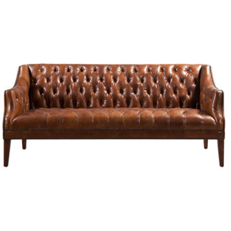 Barnoldswick Vintage Distressed Chesterfield Leather Sofa Suite