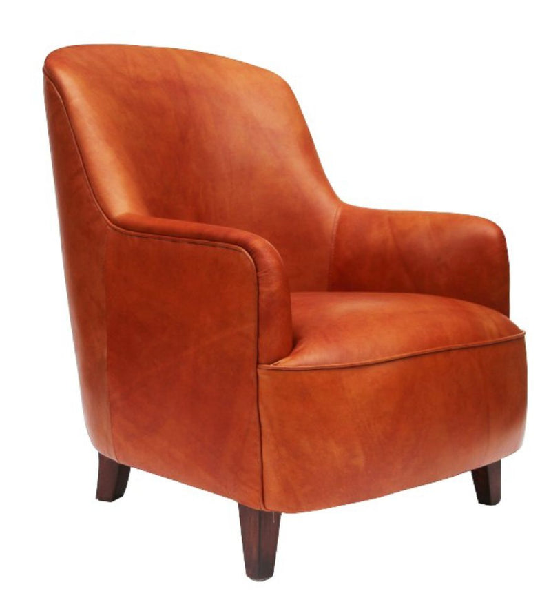 Mandoline Vintage Distressed Leather Armchair