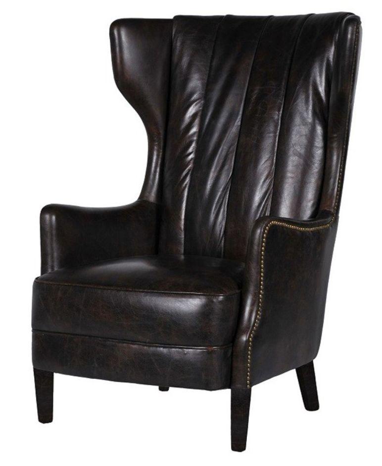 Manor Vintage Leather Highback Armchair