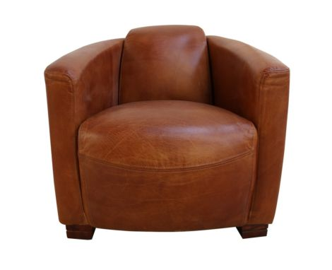 Marlborough Vintage Distressed Tan Leather Tub Chair