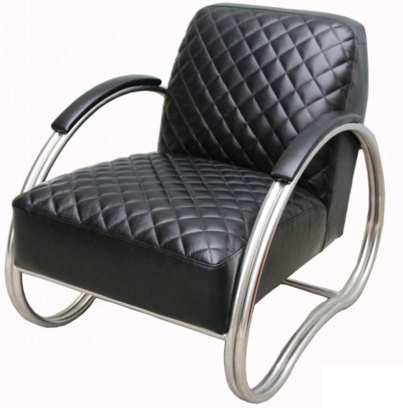 Njord Vintage Black Leather Armchair