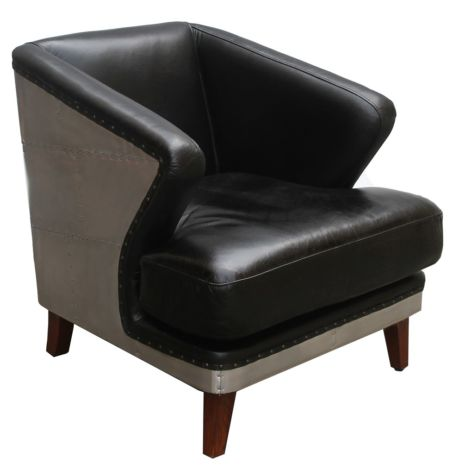 Palermo Aviator Aluminium Vintage Leather Tub Chair