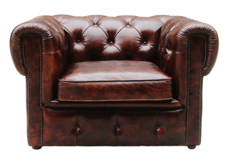 Picadilly Chesterfield Vintage Distressed Leather Club Chair