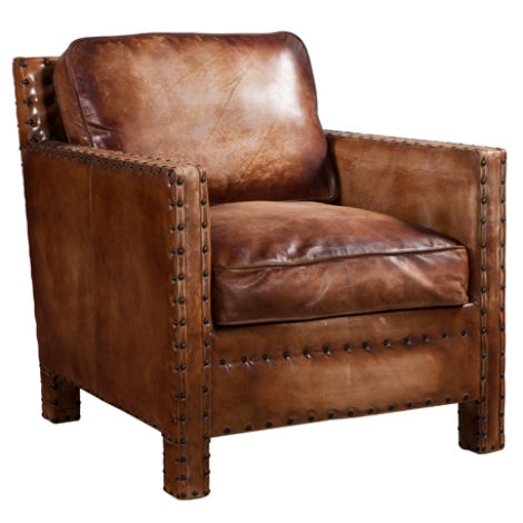 Portofino Luxury Vintage Distressed Leather Armchair