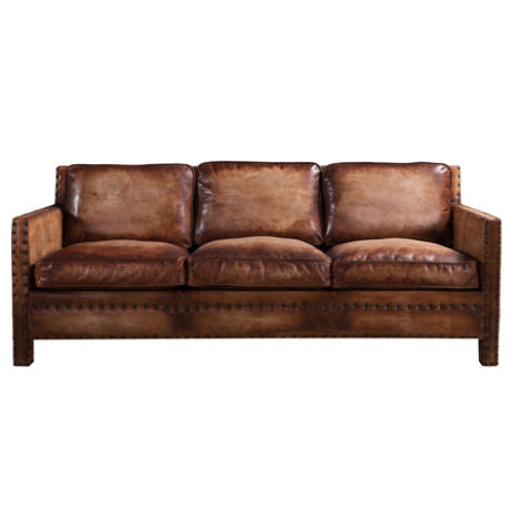 Barnard Luxury Vintage Distressed Leather Sofa Suite
