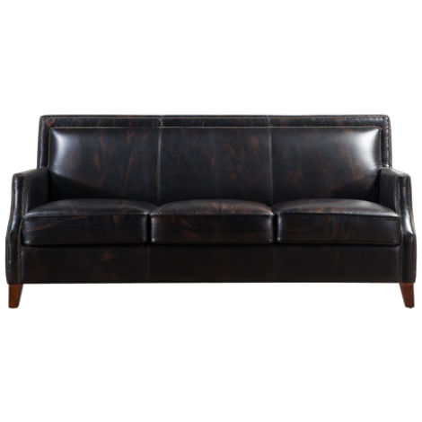 Barnes Portsmouth Vintage Distressed Leather Settee Sofa Suite