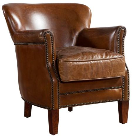 Professor Vintage Distressed Leather Armchair