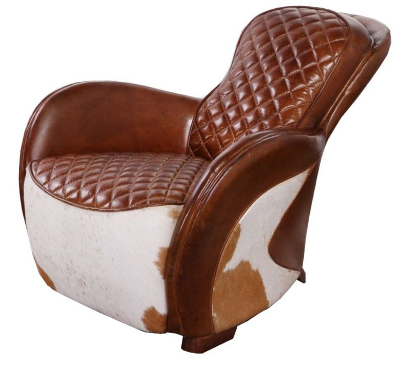 Saddle Vintage Cowhide Distressed Leather Chair