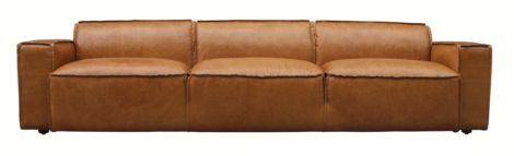 Calne 4 Seater Vintage Distressed Leather Sofa