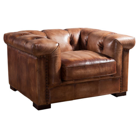 Somerset Chesterfield Vintage Retro Leather Armchair