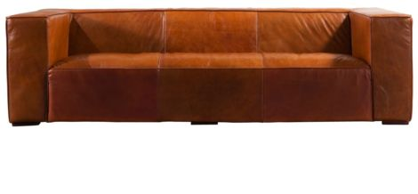 Arden Vintage Distressed Leather Sofa