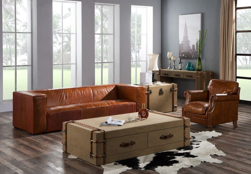 Beverley Vintage Distressed Leather Sofa