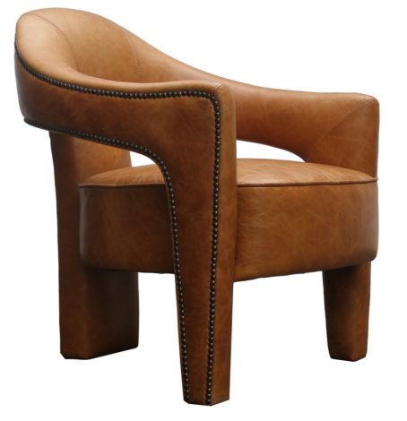 Utrecht Vintage Leather Tub Chair