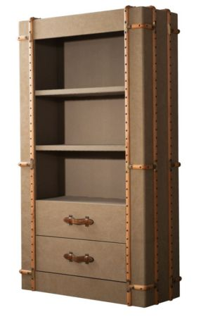 Acton Vintage Bookcase With Drawers