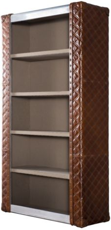 Amedeo Vintage Leather Bookcase