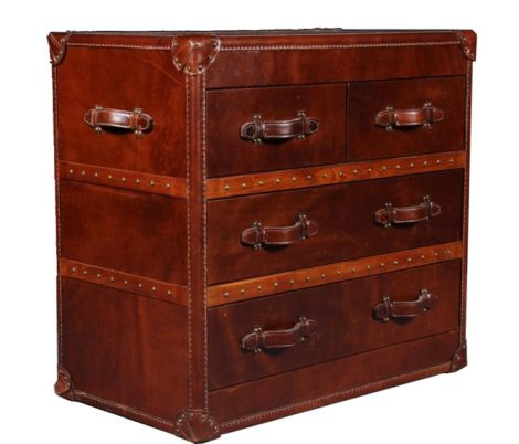 Ashton Vintage Leather Chest Of Drawers