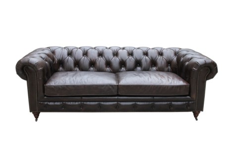Arden Vintage Distressed Real Leather Chesterfield 3 Seater Sofa