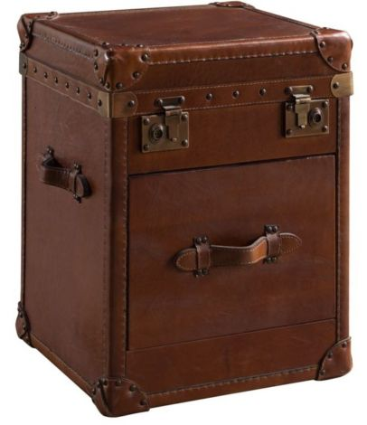 Arden Vintage Small Leather Trunk