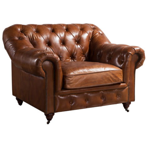 Wellington Chesterfield Vintage Distressed Leather Armchair