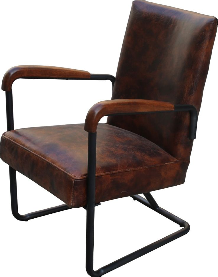West Elm Vintage Distressed Leather Chair