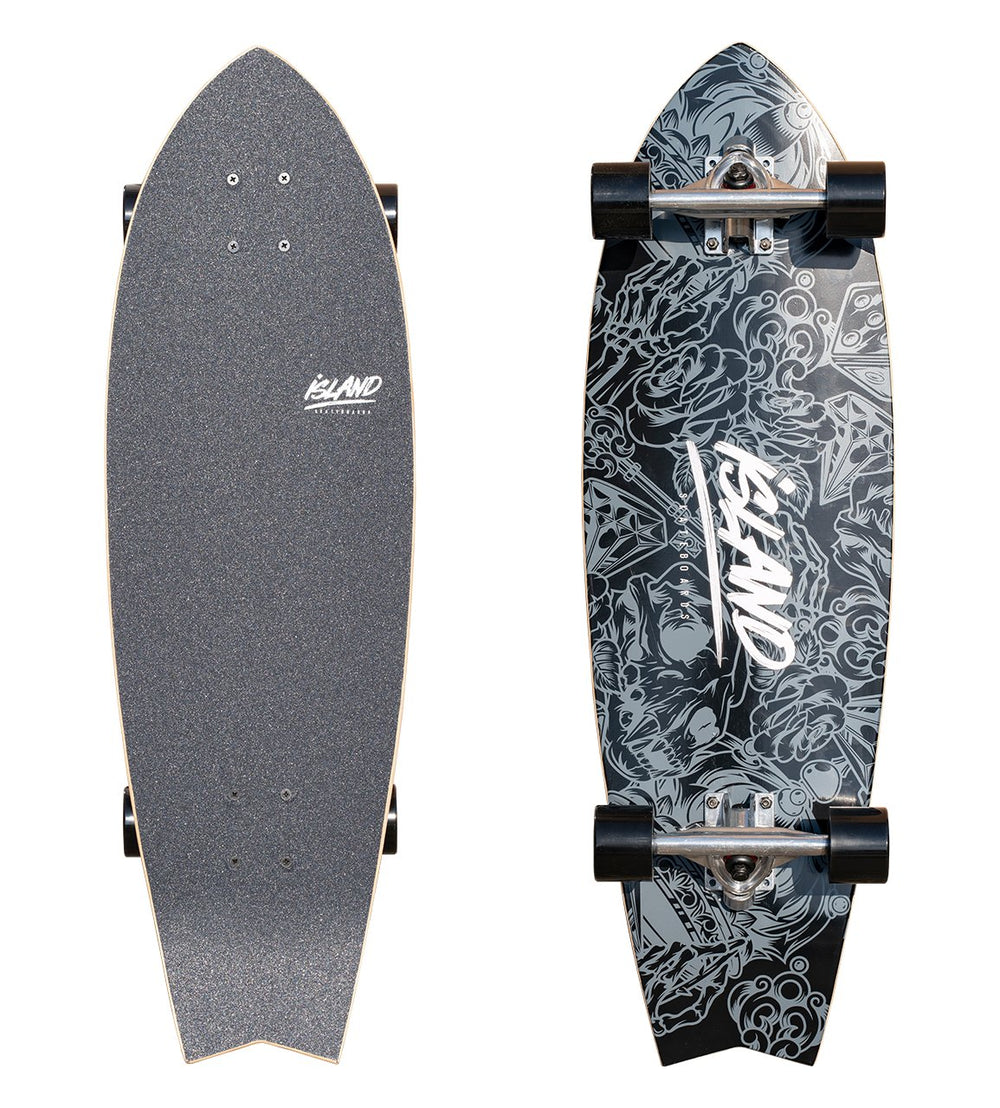 "28"" FISH TAIL CRUISER - BLACK"