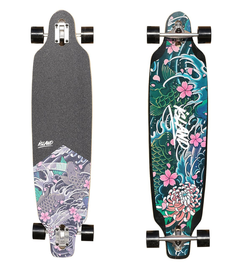 "40"" DROP-THROUGH LONGBOARD - KOI"