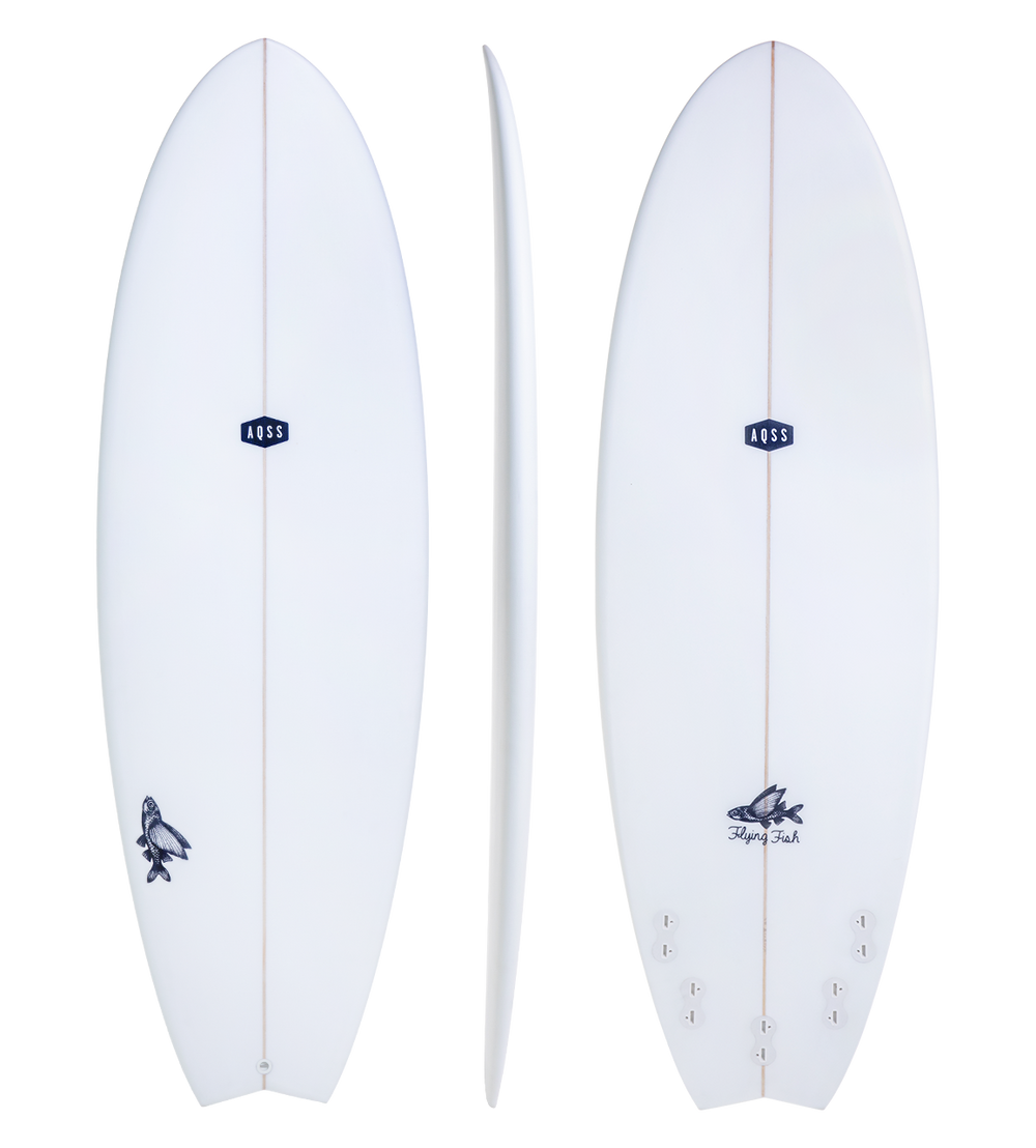FLYING FISH -CLEAR SKIN - FUNBOARD - The Surfboard Warehouse Australia